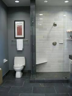 subway tile feature wall bayhroom - Google Search