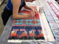 Ikat Time Lapse. 3 months of work in 4 minutes... amazing.
