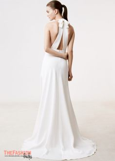 You don't want a usual wedding gown silhouette? Then you should consider a high neckline – cut in one with garment by slanting or curving shoulder seams upward towards the neck. (Also called built-…