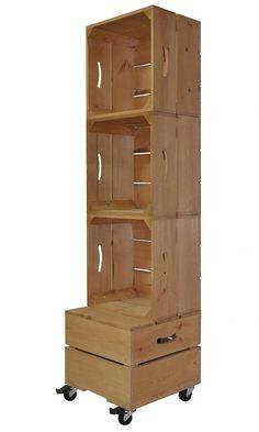Square Three Crate Shelving Unit