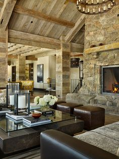 Montana ranch home exuding rustic-modern style
