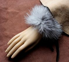 Silver fox fur bracelet. Taxidermy themed jewelry by Lupa. Available at https://www.etsy.com/listing/219759576/fur-bracelet-real-silver-fox-fur