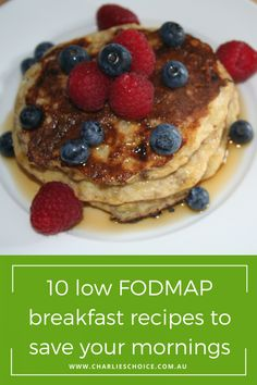10 low FODMAP breakfast ideas