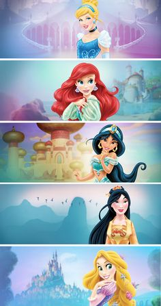 Ugh, it's like they're all just weird actors playing them, or they've all just gotten plastic surgery and hideous sparkly makeovers, not that I have anything against sparkles and glitter ect, but this is just wrong :( Disney Princess Names, Walt Disney Princesses, Disney Princess Birthday, Disney Princess Pictures, Princess Party, Disney Amor, Cute Disney, Disney Girls, Disney Magic