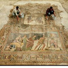 Ελληνικός θησαυρός: Ασύλληπτης ομορφιάς ψηφιδωτά ανακαλύφθηκαν σε αρχαία Ελληνική πόλη στην Τουρκία Poli, Greece, Painting, Art, Destinations, Viajes, Greece Country, Art Background, Painting Art