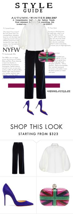 """""""✔️"""" by komilash ❤ liked on Polyvore featuring Vanessa Seward, Dice Kayek, Christian Louboutin and Alexander McQueen"""