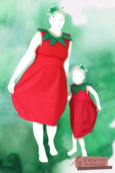 Costume 'strawberry balloon dress' (sewing instructions for all sizes) Makerist – Mama-Tochter-Erdbeer-Ballonkleid – 1 - Cute Adorable Baby Outfits Cosplay Dress, Costume Dress, Halloween Outfits, Halloween Costumes, Halloween Kostüm, Diy Dress, Dress Up, Diy Clothes Design, Baby Kostüm