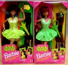 Barbie Cut and Style. I remember getting this for my birthday when i had the mushroom cut hairstyle. I was very disappointed when i cut barbies hair to match mine that it didnt magically go back to the way it was