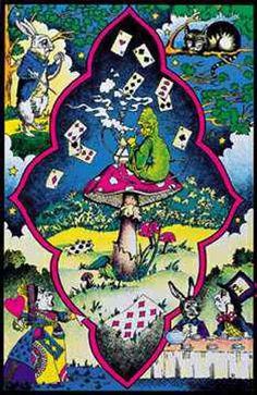 Alice in Wonderland Trippy Black Light Poster 23x35 – BananaRoad