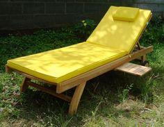 yellow sunlounger | ... furniture garden sunloungers teak garden sunlounger image gallery