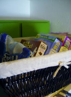 Organize your cereal boxes
