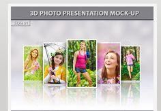 3D Photo Presentation Mock-Up
