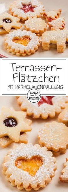 Die besten Spitzbuben The best rascals or terrace cookies in the world! Wonderful Classic Recipe of my grandmother Margarethe. The filled Christmas cookies with jam also succeed baking beginners. Almond Recipes, Baking Recipes, Cookie Recipes, Easy Holiday Cookies, Christmas Cookies, Jam Cookies, Baking Cookies, Winter Desserts, Macaron