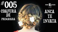 Coafura de Primavara ANCA TE INVATA #005 Dreadlocks, Studio, Hair Styles, Youtube, Movie Posters, Beauty, Hair Plait Styles, Film Poster, Hairdos