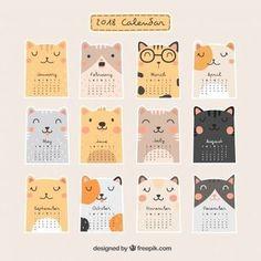 <a href='https://www.freepik.es/vector-gratis/bonito-calendario-2018_1439978.htm'>Designed by Freepik</a>