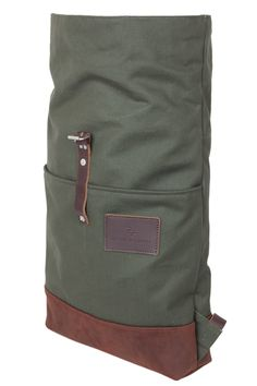 roll top backpack canvas naked leather