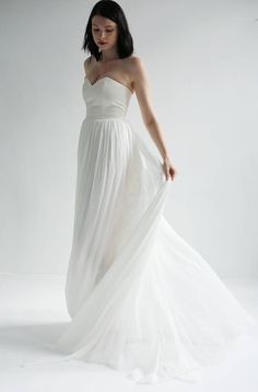 Leanne Marschall NYC Strapless Sweetheart Gown Wedding Dress