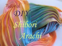DIY: Tutorial shibori silk - hand made - Seta plissetata per creazioni embroidery beads - YouTube