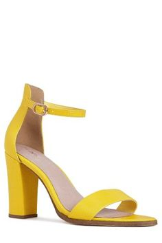 Yellow Block Heels
