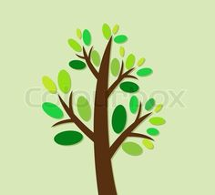 Vector of 'Abstract tree design in Vector Illustration' on Colourbox