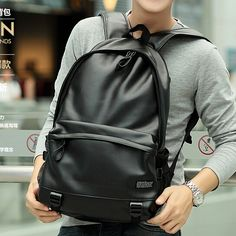 12.00$  Watch here - http://aliae2.shopchina.info/go.php?t=2047837672 - ETN BAG hot sale popular good quality women men PU Leather backpack female male fashion travel backpack  #magazineonlinebeautiful