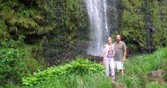 A waterfall along Maui's Hana Highway