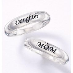 "Say it with sterling silver. The perfect gift for Moms and Daughters. Select band engraved with ""Daughter"" or ""Mom"". STERLING SILVER is the standard for fine silver jewelry in the world over. Only Sterling Silver can be stamped with a ""fineness mark"" of .925 indicating its high quality."