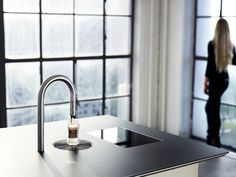 The TopBrewer Coffee Machine by Scanomat - A built-in coffee faucet? Oh yes, please! #coffeemachine #coffee #whynot