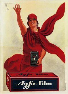 Marcello Dudovich Illustration 'AGFA Film' c.1930's