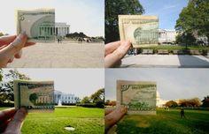 matching the dollars to original photo