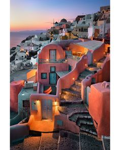 Houses craved into the cliff of #Santorini, Greece. #Travel #Houses @travelfoxcom #Greece