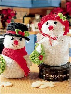bonecos de neve crochet