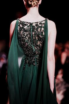 dress, green, and elie saab image