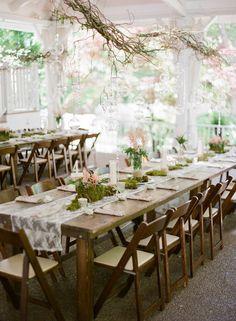 Floating branches and votives I  CJ's Off the Square I #weddingdecor I #rusticwedding