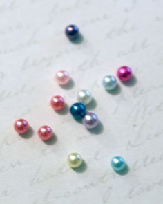 4mm Colored Pearl Floating Locket Charms for Origami Owl or Glass Memory Lockets & Necklaces