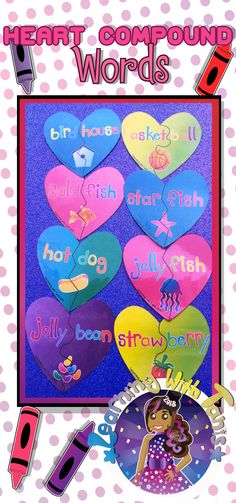 These compound words are broken and need a little love to mend them back together! What a perfect activity to share with your little ones in class for the Valentine season! These hearts are colorful, easy to read, and easy to match together! Click the photo to learn more about this product!