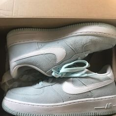 83a4a2ef20 Nike Shoes | Mint Green Air Force Ones | Color: Green | Size: 6