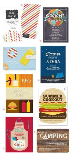 Summer Party Invitations on onecharmingparty.com #summerinvites