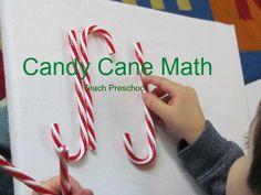 Candy cane math in pre-k