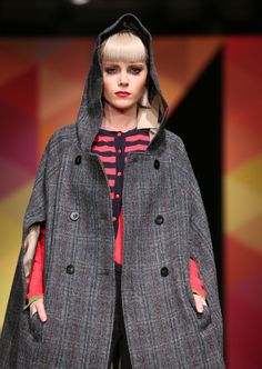Birkin Dusk, Hooded, Harris Tweed Cape Cape Coat, Harris Tweed, Fall Winter, Autumn, Birkin, Hoods, Raincoat, Dusk, Lady