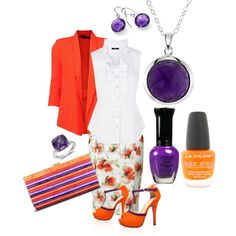 Orange and Purple Outfit by hread on Polyvore
