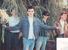 The Smiths at Camden Lock, London on August 30,1983 ― via Portrait Thoughts Blog.