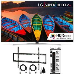 Bundle Includes LG 65UH9500 65-Inch Super UHD 4K Smart TV Flat Wall Mount Kit Ultimate Bundle for 45-90 inch TVs 6 Outlet Home and Office Power Strip with Dual USB Ports 65' Super UHD 4K Smart TV w/ w...