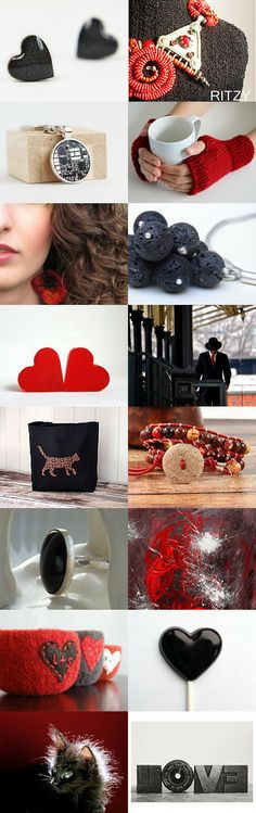 LOVE IS RED AND BLACK by doris on Etsy--Pinned with TreasuryPin.com