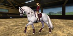 Today the Jorvegians are super excited to announce the arrival of an all new horse to Star Stable! The magical Lusitano! The Lusitano is a Portuguese horse breed . Star Stable Horses, Horse Star, Star Stable Online, Horse Riding Gear, Horse Cartoon, Horse Games, Horse Videos, Showing Livestock, Andalusian Horse