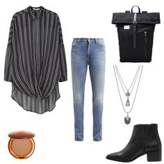 OneOutfitPerDay 2016-10-25 - #ootd #outfit #fashion #oneoutfitperday #fashionblogger #fashionbloggerde #frauenoutfit #herbstoutfit - Frauen Outfit Herbst Outfit Outfit des Tages Winter Outfit Ankle Bluse Boot Halskette Jeans Lancaster Mango Nudie Jeans Sandqvist Seven Boot Lane Tagesrucksack Topshop