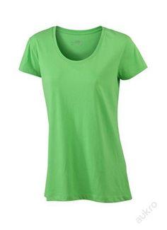 Dámské triko - limetková zelená S James Nicholson