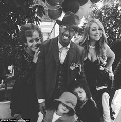Putting their differences aside: Mariah and Nick Cannon appeared to be getting along great as they spent the holiday with their children Moroccan and Monroe