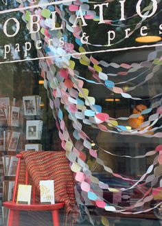 window display paper scrapbooking - I'll have this in the shop I'll own someday!