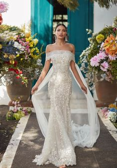wedding dress 2018 galia lahav couture fall 2018 bridal off the shoulder straight across neckline full embellishment elegant fit and flare wedding dress sweep train mv -- Galia Lahav Couture Fall 2018 Wedding Dresses Fit And Flare Wedding Dress, Fall Wedding Dresses, Designer Wedding Dresses, Bridal Dresses, Wedding Gowns, Couture Wedding Dresses, Spring Wedding, Wedding Dress 2018, Straight Wedding Dresses